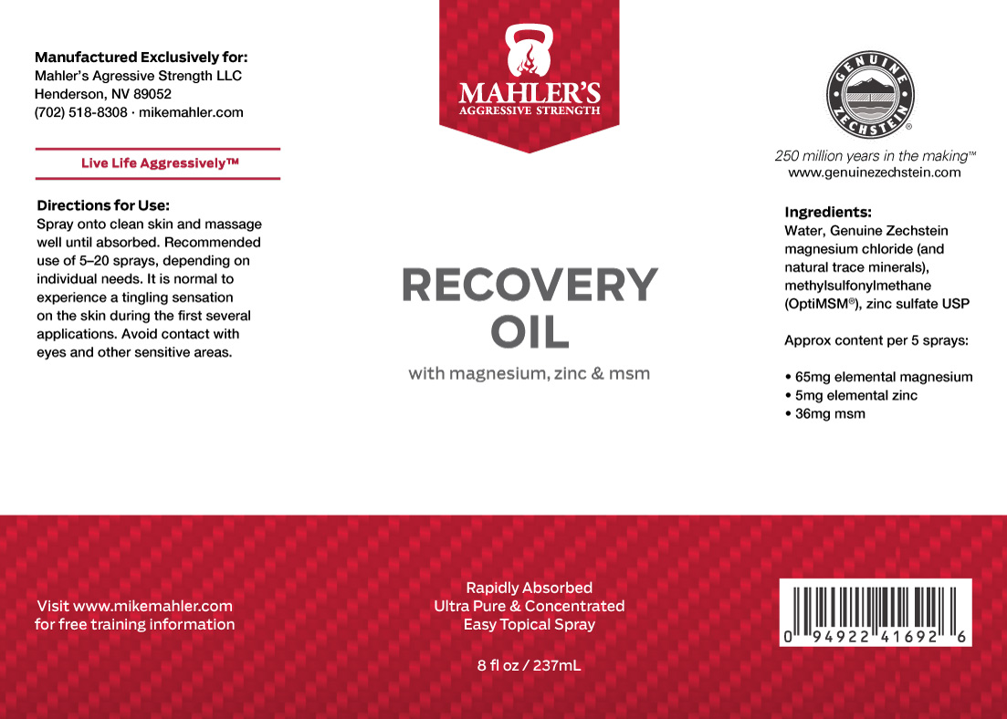 Aggressive Strength Recovery Oil - Mahler's Aggressive Strength