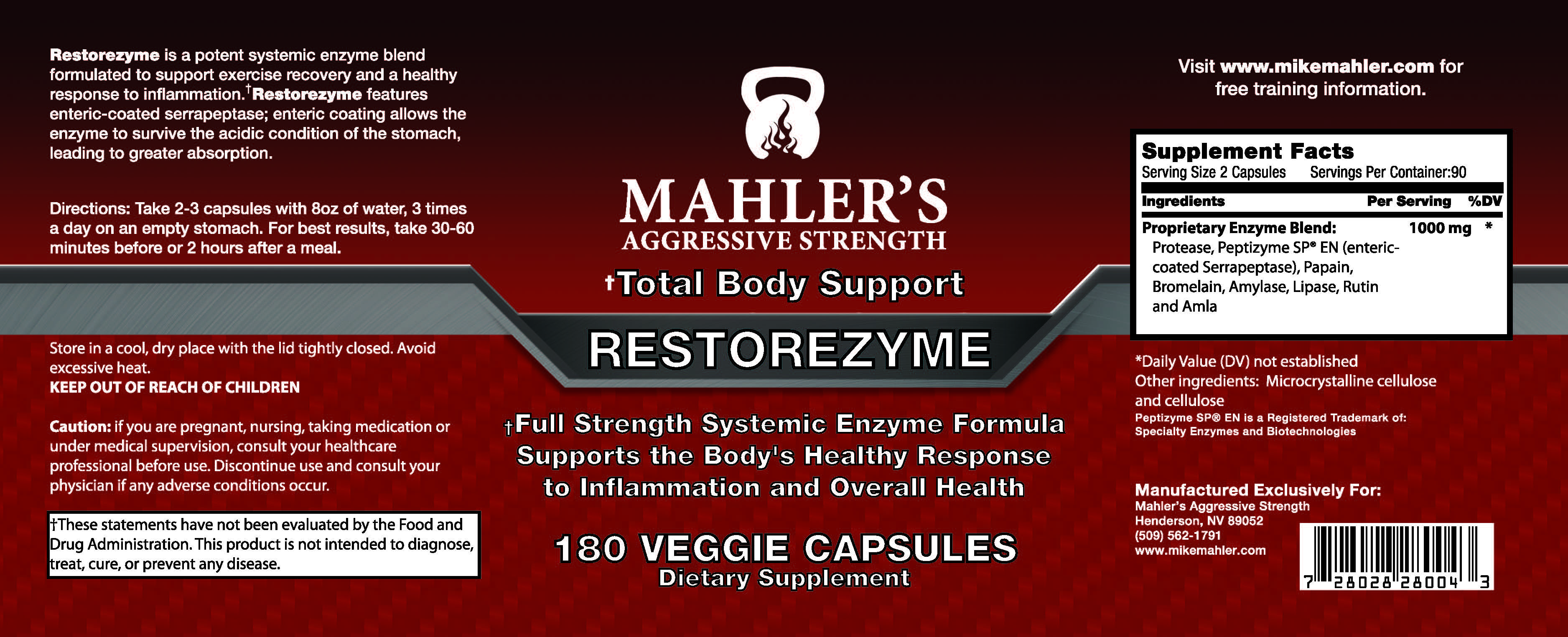 Increasing Anabolism With Enzymes Mahler S Aggressive